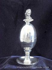 Eierbecher Feinzinn Sissi 12 cm reine Handarbeit