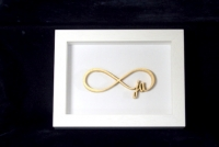 Wooden frame infinity say YES